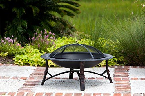 Fire Sense 60857 Roman Fire Pit, Brushed Bronze