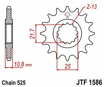 JT Sprockets JTF1586.17 17T Steel Front Sprocket