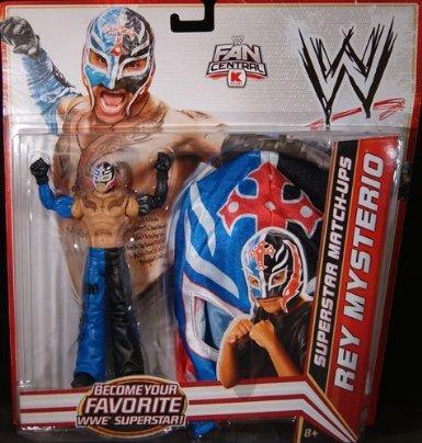 Rey Mysterio White Mask (Mattel WWE Wrestling Exclusive Superstar MatchUps Action Figure Mask Rey Mysterio Blue/Black Pants Mask)
