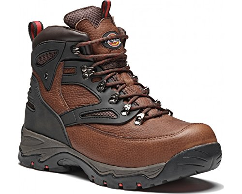 Dickies Mens Preston Work Safety Steel Toe Cap Midsole Leather Boots Brown