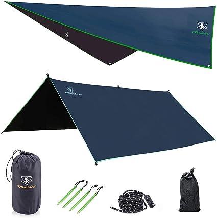 Waterproof Camping Tent Tarp Shelter Hammock Cover Lightweight Rain Fly US