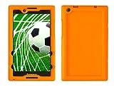 Bobj Rugged Case for Lenovo Tab 2 A8-50, A8-50F, Tab 3 TB3-850F, TB3-850M, ZA170001US, ZA170003US – BobjGear Custom Fit - Patented Venting - Sound Amplification - Kid Friendly (Outrageous Orange)