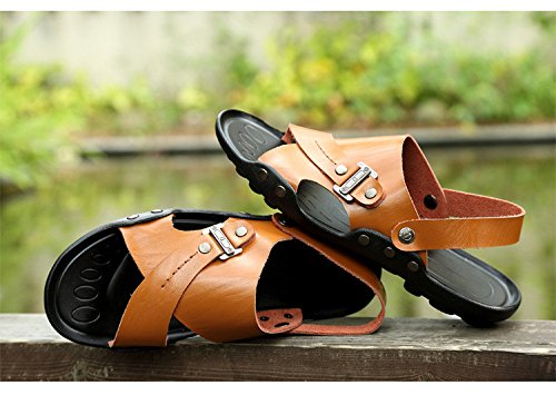 Sandali di grandi dimensioni degli uomini di estate nuovi uomini sandali di grande formato, giallo, UK = 7.5, EU = 41 1/3