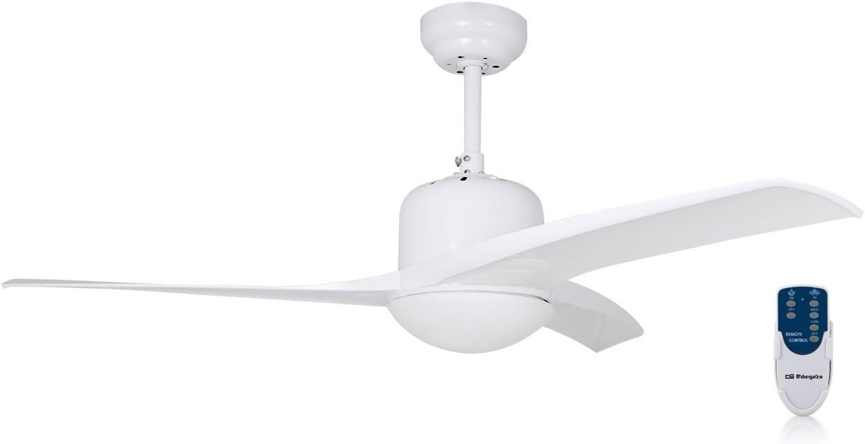 Orbegozo CP 92105 Ventilador De Techo con Luz Y Mando A Distancia, Blanco, 105 cm