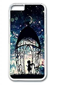Angel Girl Slim Soft Cover For Iphone 6 Plus 5.5 inch Cover Case PC Transparent Cases