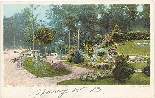 Park Rapids Grand - Historic Pictoric Postcard Print   View, John Ball Park, Grand Rapids, Mich, 1903   Vintage Fine Art