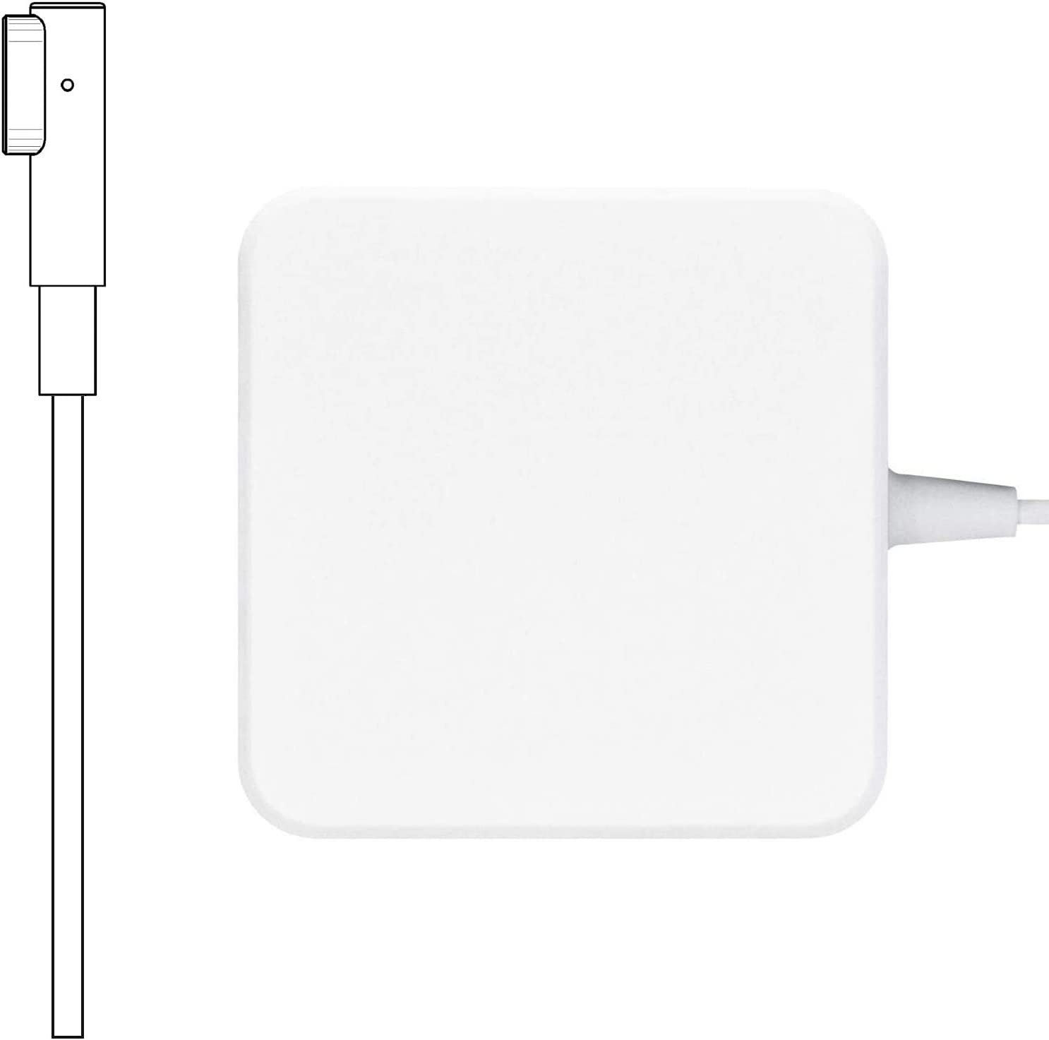 Mac Book Pro Charger, 60W Magsafe Power Adapter Magnetic L-Tip Connector Charger for Mac Book and 13-inch Mac Book Pro(Before Mid 2012 Models) (White)