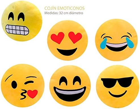 Cuscini Emoticon.Set Di 6 Cuscini Con Emoticon Cuscini Emoji Con Emoticon