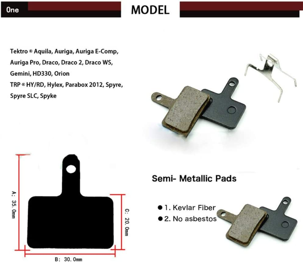 4 paires r/ésine Plaquettes de freins /à disque pour B01S MT200 M375 M395 M486 M485 M475 M416 M446 M515 M445 M525 Frein /à disque