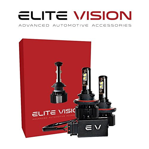 Elite Vision Advanced Automotive Accessories - Elite LED Conversion Kit H13 (9008) for Bright White Headlights Bulbs, Low Beams, High Beams, Fog Lights