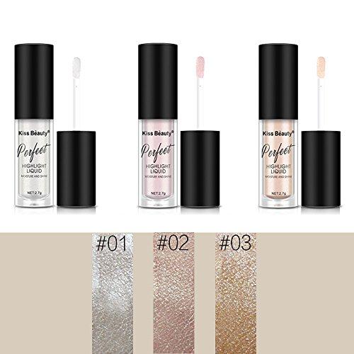 3Pcs/Set Face Highlighter Bronzer Glow Kit Liquid Highlighter Pen Contour Makeup ()