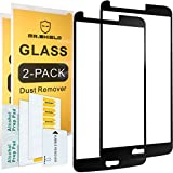 lg 3 accessories - [2-PACK]-Mr Shield For LG Stylo 3 [Tempered Glass] [Full Cover] [Black] Screen Protector with Lifetime Replacement Warranty