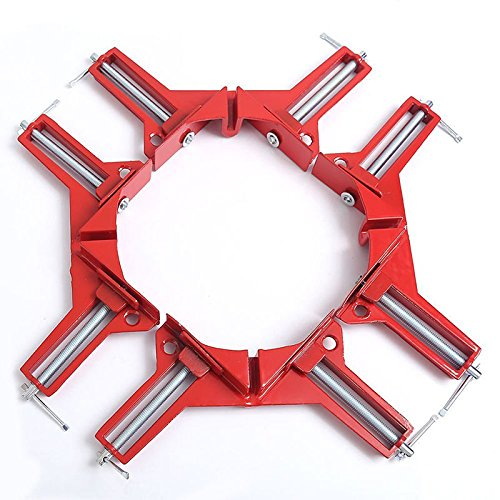 Set of 4 NUZAMAS 90 Degree 75mm/ 3 inch Right Angle Making Picture Frames Box Corner Clamps Holders Woodwork Tools ()