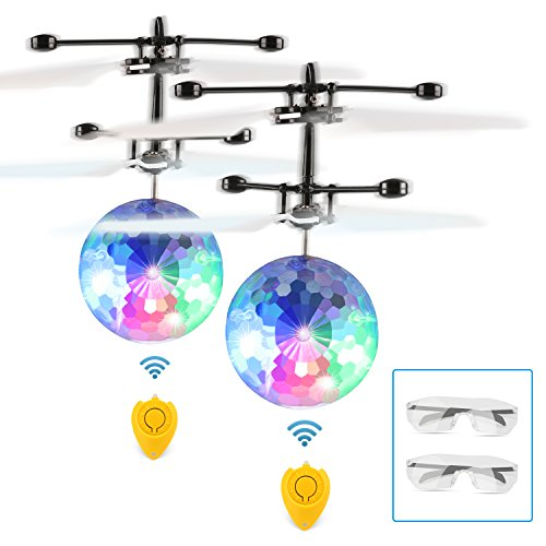 New Mannequin Fansteck Flying Ball, RC Flying Toys with Goggles, Flying Helicopter Ball with Constructed-in Shinning LED Lighting for Youngsters, Adults (2 Pack)  Critiques