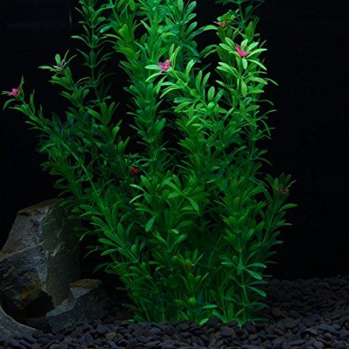 Tacobear artificial plastic plant green aquarium fish tank for Artificial pond plants sale
