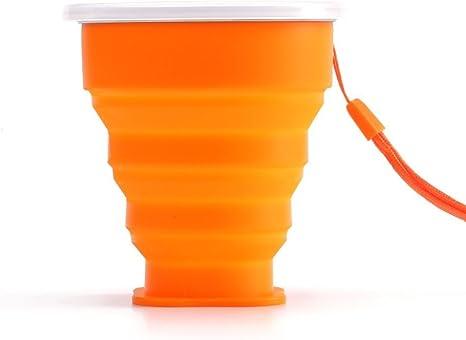 Bicchiere Portatile Richiudibile Pieghevole da Viaggio con Portapillole 6,5 cm