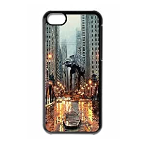 iPhone 5C Case,AT AT in Chicago Hard Shell Back Case for Black iPhone 5C Okaycosama365309