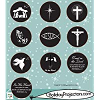 Holiday Projector Replacement Slide Pack - Religious Black and White #1