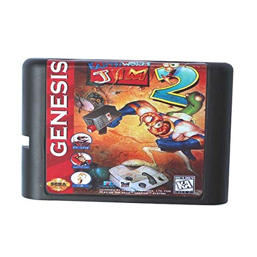 - ROMGame Earthworm Jim 2 16 Bit Md Game Card For Sega Mega Drive For Genesis