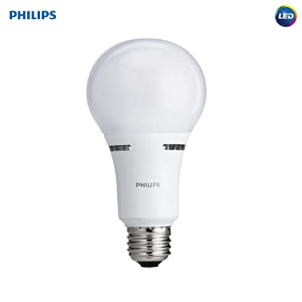Philips 459164 LED 3 Way A21 Frosted Light Bulb: 1600 800 450