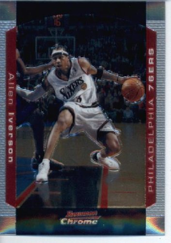 2004 05 Bowman Chrome Basketball Card #33 Allen Iverson Philadelphia 76ers