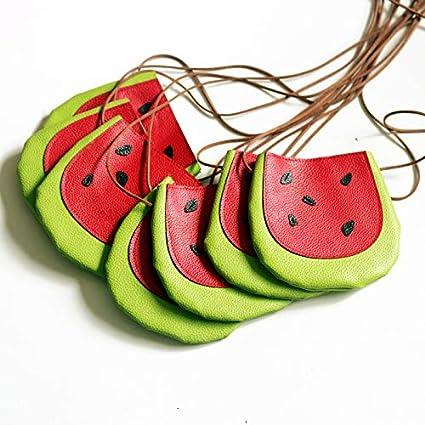 Niedlich Schultertasche Rucksack f/ür Geschenk Westeng Tasche f/ür Kinder S/üss Obst-Form Umh/ängetasche aus Leder Apfel