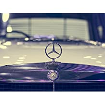 LAMINATED 32x24 Poster: Mercedes Old Auto Car Sport Brand Logo Stamp Sign Automotive Retro Classic Tuning Reflection Road Expensive