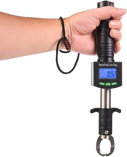 3 in1 Fishing Lip Gripper Grip Tool Stainless Steel+Digital Scale w// 2x Battery