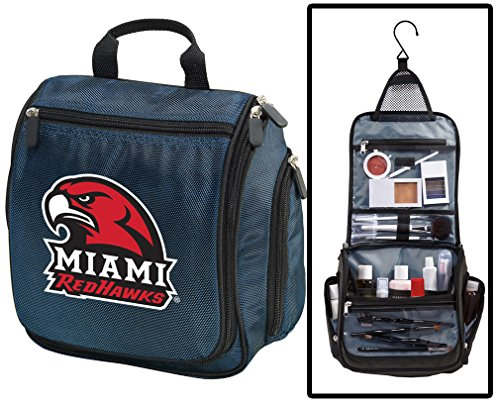 Miami RedHawks Toiletry Bags Or Hanging Miami University Shaving Kits for Men (Redhawks Top)