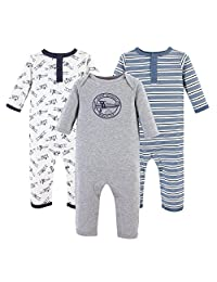 Hudson Baby Unisex-Baby Baby Cotton Union Suit, 3 Pack