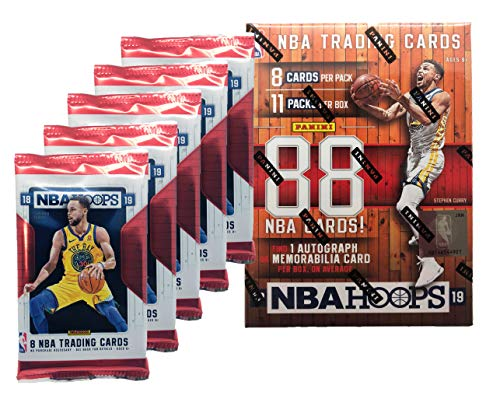 2018 - 2019 NBA Hoops Factory Sealed Basketball Cards w/ 1 AUTOGRAPH OR MEMORABILIA Card Per - Cards Panini Sports