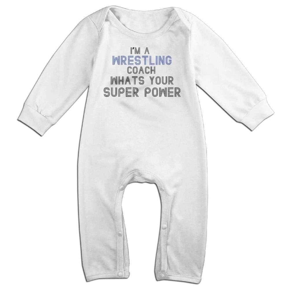 Iâ€m A Wrestling Coach, Whats Your Super Powerbaby Long Sleeve Jumpsuit Baby