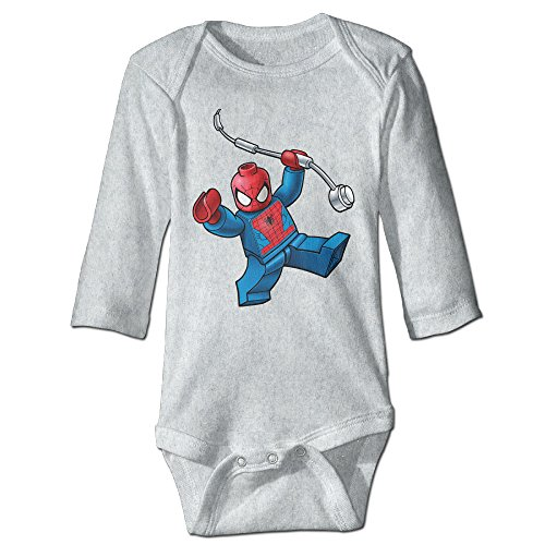 Spiderman Lego Comfortable Baby, Kid Long Sleeve Bodysuit Cotton (The Amazing Spider Man 2 Suit For Kids)