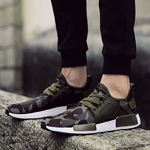Moda Estate Casual Primavera Scarpe Camouflage Sneaker Uomo Uomo Sneaker Men Scarpe Verde Casual Scarpe Green XIANV Army HwOxIXYUqn
