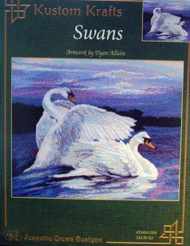Swans, Cross Stitch (Jeanette Crews Designs, Kustom Krafts #006)