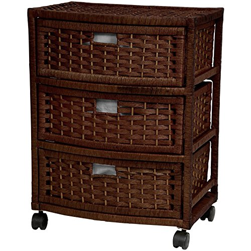 Oriental Furniture 23'' Natural Fiber Chest of Drawers - Mocha by ORIENTAL Furniture