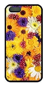 All Nice Flower For You DIY Rubber Black Best Designed iphone 5s Case