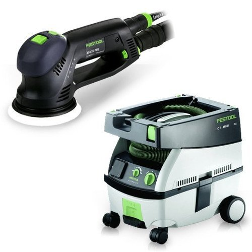 Festool PM571782 Rotex 5 in. Multi-Mode Sander with CT MINI 2.6 Gallon Mobile Dust (Mini Dust Extractor Package)