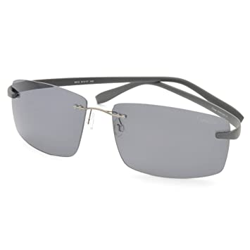 Frameless leichte Männer polarisierte Sonnenbrille,A2