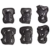 Rollerblade Bladegear XT 3 Pack Protective Gear, Knee Pads, Elbow Pads and Wrist Guards, Multi Sport Protection, Unisex, Black