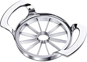 Apple Slicer Upgraded 12-Blade Extra Large Apple Corer Peeler,Stainless Steel Ultra-Sharp Fruit Corer & Slicer,Apple Cutter,Wedger,Pitter,Decorer Tool,Divider for Up to 4 Inches Apple ,Pear,Pitaya……