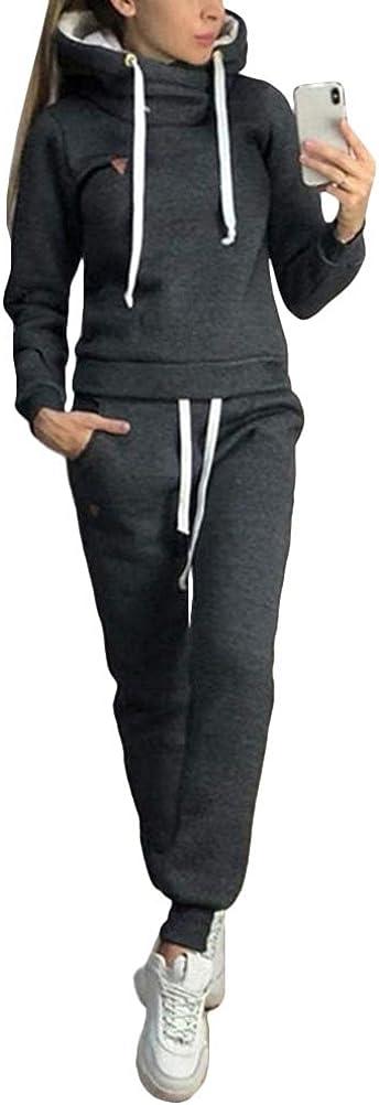 Womens Tracksuit Set Hoodies Tops Bottoms Pants Loungewear Activewear Sportsuit