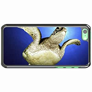 iPhone 5C Black Hardshell Case swim sea legs turtle Desin Images Protector Back Cover