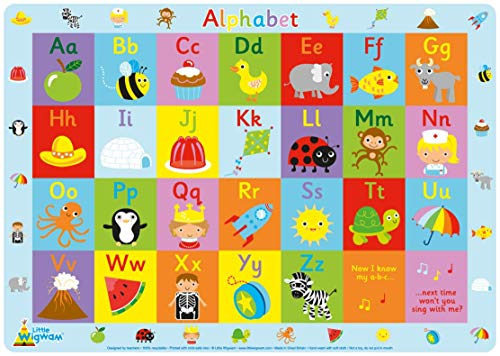 Mats Alphabet (Little Wigwam Alphabet Placemat)