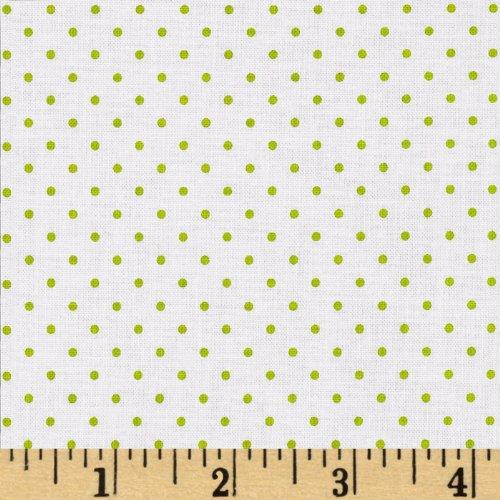 Riley Blake Designs Riley Blake Swiss & Dots White/Lime Fabric by The Yard, ()
