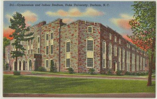 Early Cameron Indoor Stadium (Duke University) (Vintage Durham North Caroline Postcard) #1B-H10 Duke Cameron Indoor Stadium