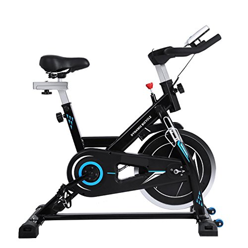 Stationary Exercise Bike Bicycle, Health Fitness Belt Drive Indoor Resistance Exercise Cycling Cycle Bike Exercise Equipment Machine Workout for Home Office Gym Utheing
