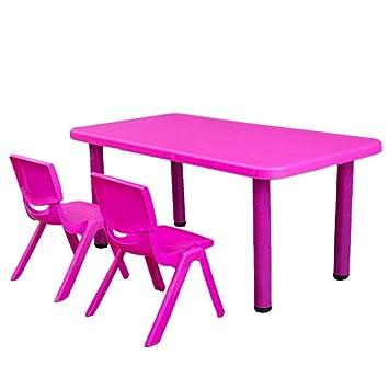 HHXD Mesa Rectangular para Niños de Hasta 6 Personas,Mesa de ...