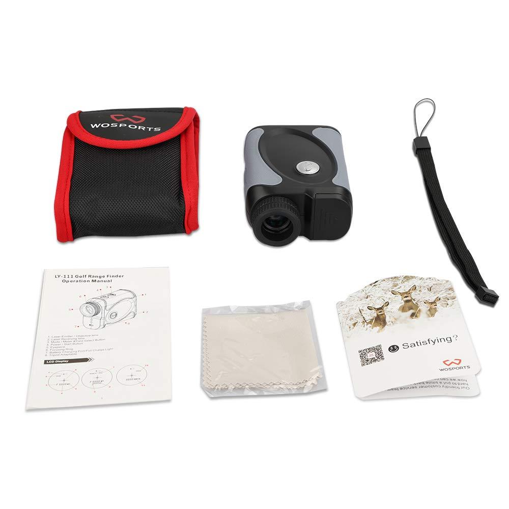 WOSPORTS Golf Rangefinder 6X Golf Laser Rangefinder Flag Lock with Vibration Continuous Scan Speed for Golf Scope 600 Yards