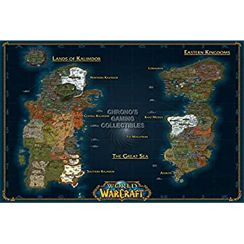 Amazon cgc huge poster world of warcraft world map pc cgc huge poster world of warcraft world map pc ext184 24 x gumiabroncs Choice Image
